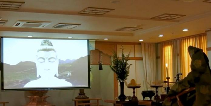 Monge Zenji comandou cerimônia de 'abertura dos olhos' do Buda gigante de Ibiraçu, diretamente do Japão