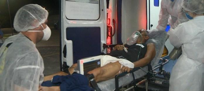 Aluízio Dias Ramos chegou ao Espírito Santo para receber o tratamento contra a Covid-19.