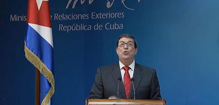 Chanceler cubano Bruno Rodríguez
