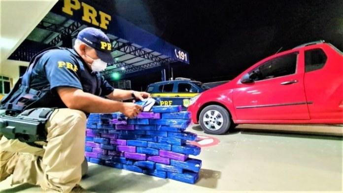 PRF registra aumento de 46% nas apreensões de cocaína na Bahia em 2020