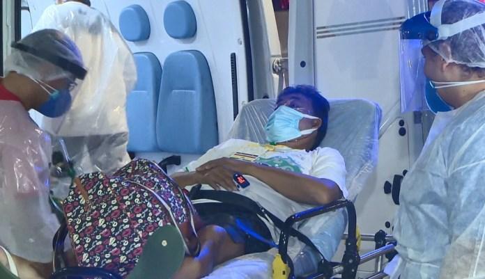 Luiz chegou ao Espírito Santo para tratamento de Covid-19 em janeiro — Foto: Reprodução/ TV Gazeta