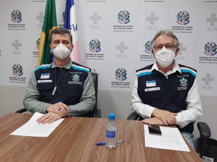 Secretaria de Saúde passou informações sobre a pandemia em coletiva de imprensa realizada nesta sexta-feira — Foto: Divulgação/Sesa