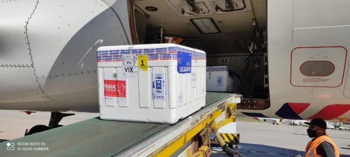 ES recebeu mais doses de vacinas contra a Covid-19 nes quinta-feira (8) — Foto: Divulgação/LATAM