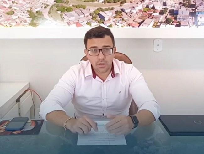 Prefeito de São Gabriel da Palha, Tiago Canal Rocha (PSL) — Foto: Reprodução/Instagram