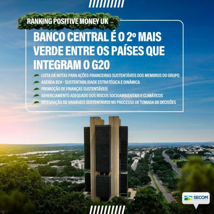 """Banco Central do Brasil é o segundo """"mais verde"""" do G20"""