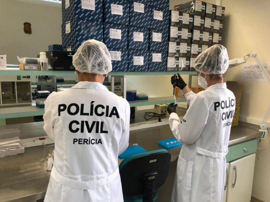 Amostras de materiais genéticos são processadas no Laboratório de DNA Forense do Espírito Santo — Foto: Reprodução/Polícia Civil