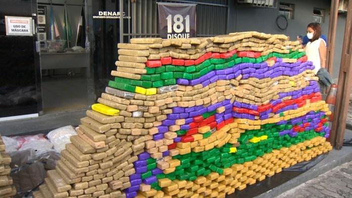 Droga que será incinerada no ES — Foto: Reprodução/ TV Gazeta
