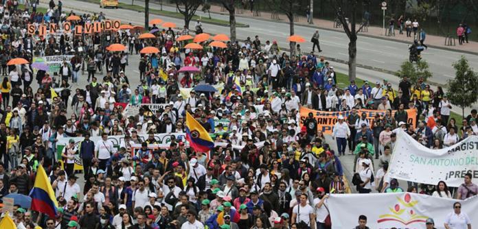 Manifestação na Colômbia
