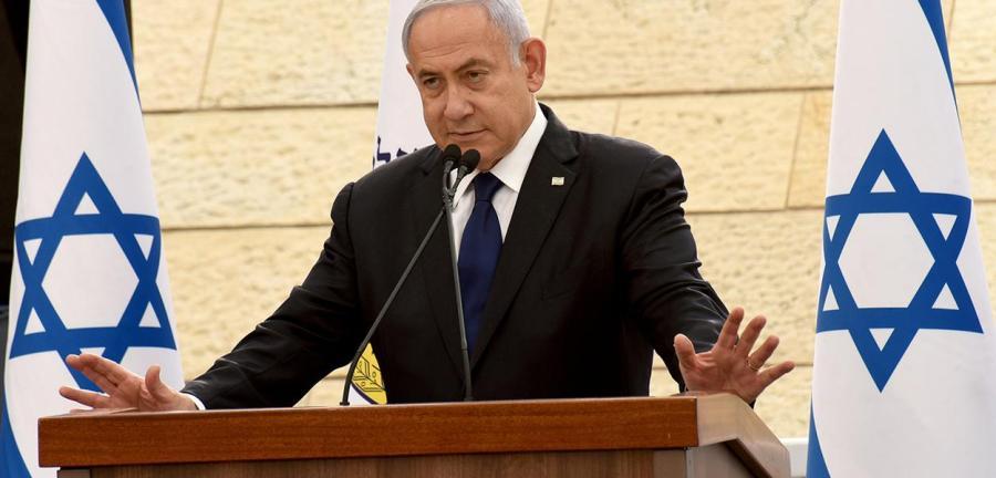 Primeiro-ministro de Israel, Benjamin Netanyahu em Jerusalém 13/04/2021