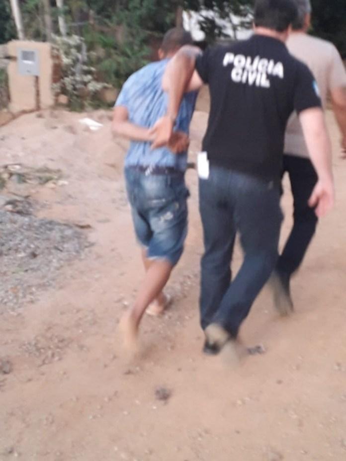 Suspeito de matar a namorada a facadas foi preso no Sul do ES — Foto: Divulgação/Polícia Civil