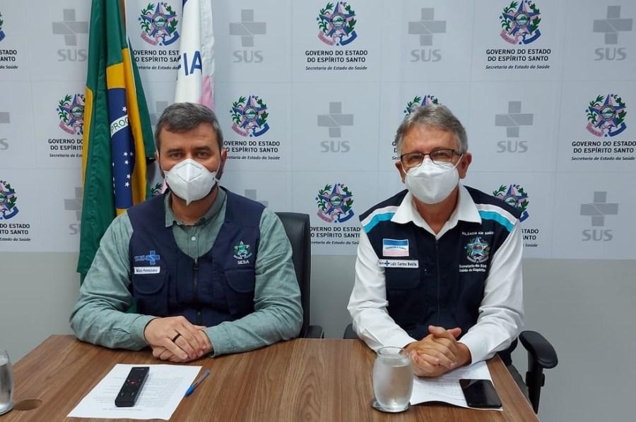 Coletiva de imprensa foi realizada na tarde desta segunda-feira (7) — Foto: Divulgação/Sesa