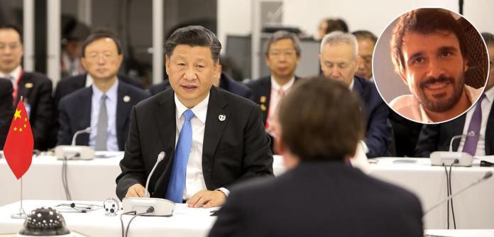 Xi Jinping e Mathias Alencastro