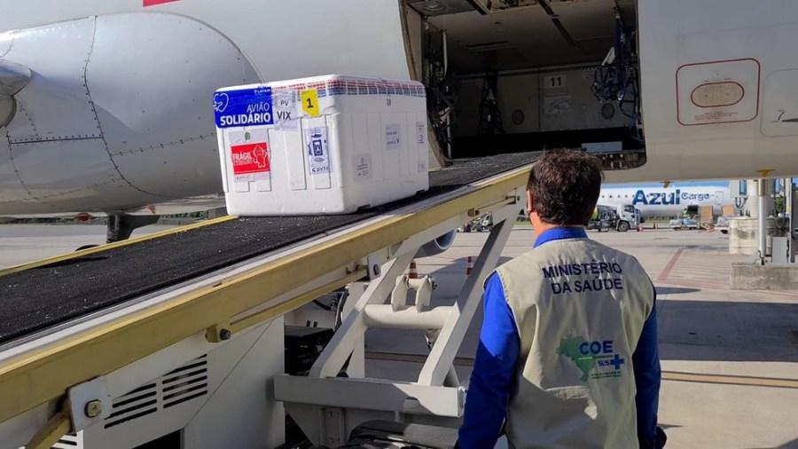 ES recebe novo carregamento de vacina contra Covid-19 — Foto: Divulgação/ Ministério da Saúde