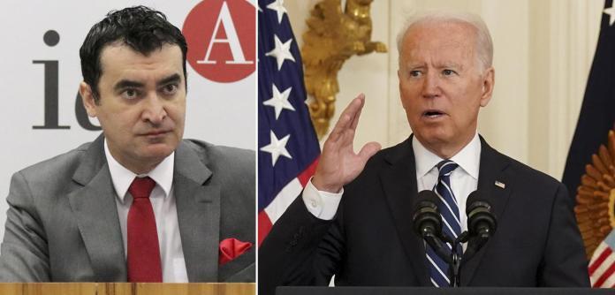 Alysson Mascara e Joe Biden