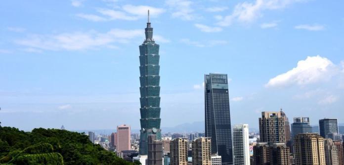 Taipé, capital de Taiwan, China