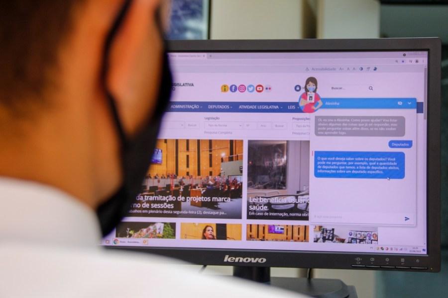 Alesinha, assistente virtual da Assembleia Legislativa do Espírito Santo — Foto: Leonardo Duarte/Ales