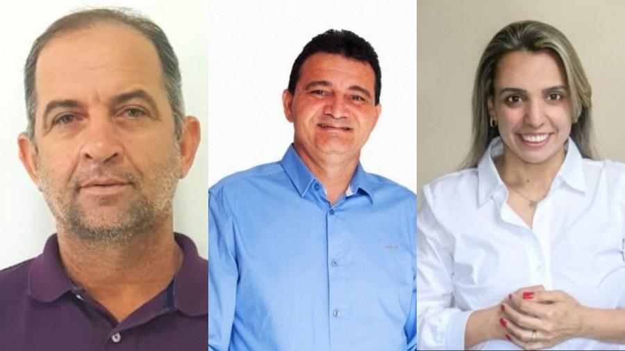 Antônio José (Republicanos), Claudio Boa Fruta (DEM) e Fernanda Milanese (Solidariedade) são candidatos em Boa Esperança — Foto: Reprodução/Redes sociais