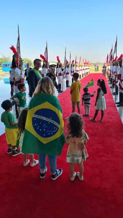 Cerimônia no Palácio do Alvorada celebra o Sete de Setembro