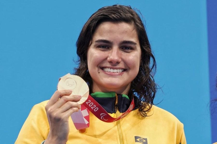 Mariana Gesteira foi bronze na natação das Paralimpíadas — Foto: Miriam Jeske/CPB