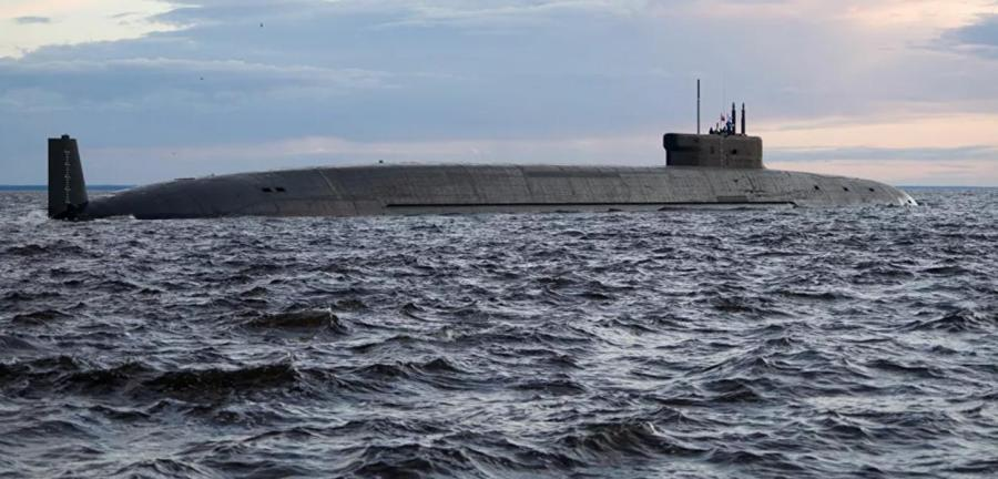 Submarino nuclear Knyaz Vladimir, na base naval de Severodvinsk