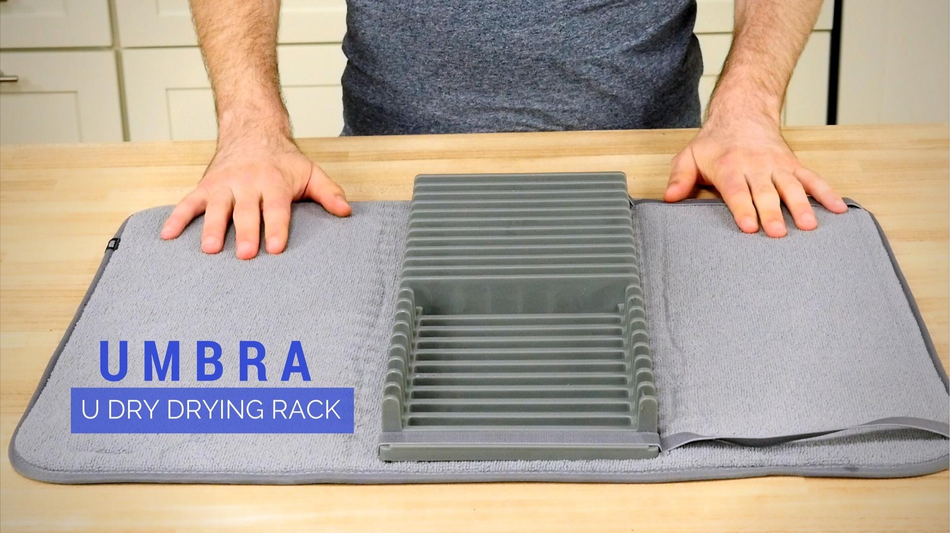 umbra u dry drying rack with mat