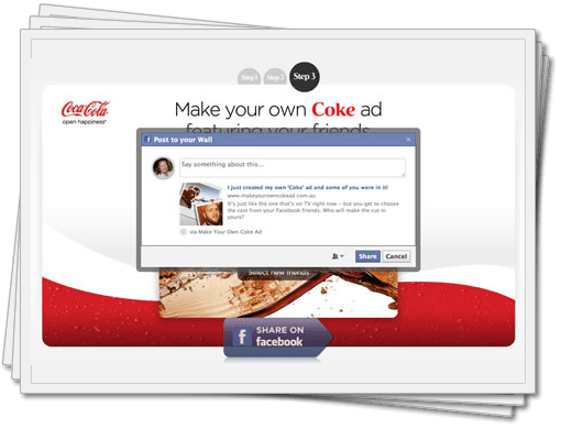 Make Your Own Coke Advert