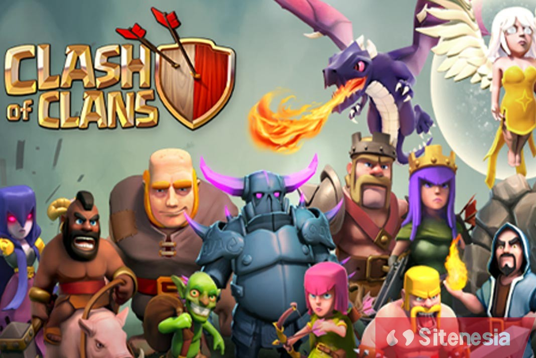 Gambar Cover Game Clash Of Clans COC MOD APK Versi Terbaru 2019 Unlimited Money Gold Gems Dan Elixir Gratis