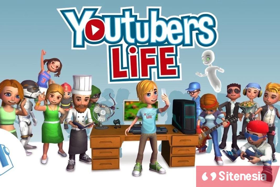 Gambar Cover Download YouTubers Life MOD APK Versi Terbaru Unlocked All Channels Gratis