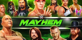 Gambar Cover Download WWE Mayhem MOD APK Versi Terbaru Unlimited Money Gold Dan Cash Gratis Untuk Android
