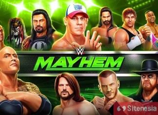 Gambar Cover Download WWE Mayhem MOD APK Versi Terbaru Unlimited Money Gold Dan Cash Gratis Untuk Android