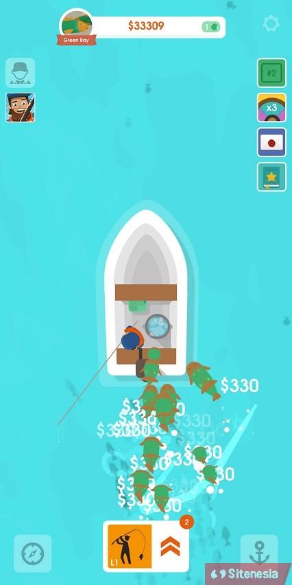 Gambar Gameplay Download Hooked Inc Fisher Tycoon MOD APK Versi Terbaru Unlimited Money Uang Tak Terbatas Gratis Dan Baru