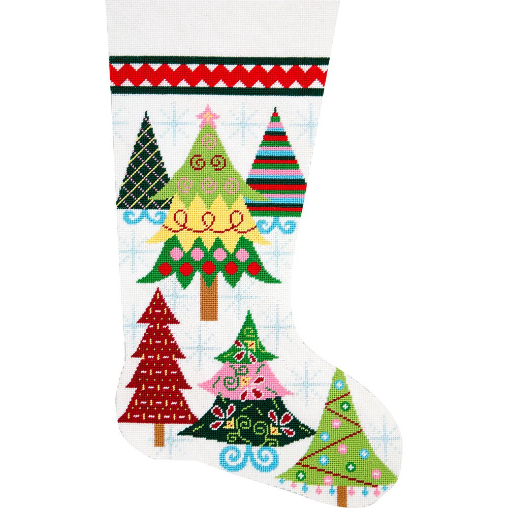 Needlepoint Christmas Stocking Reindeer