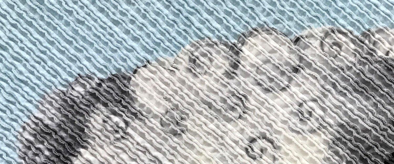 Chenille Panel Quilt Closeup