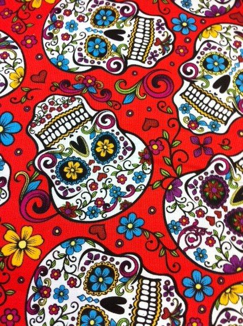 sugar skull fabric