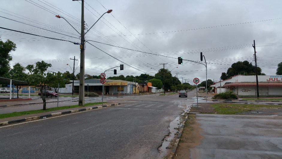 Sunday morning of the streets of Boa Vista