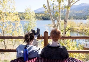 Students take a break at Catamount Reservoir