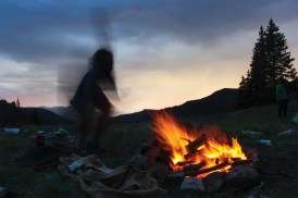 """Riggio calls this photo of Mike Stevens '15 """"Tales of a Fire Ghost."""""""