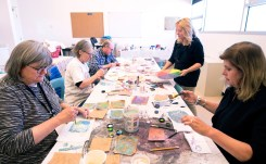 The Bemis School of Art hosted first-hand workshops in watercolor and printmaking open to participants of Art Week.