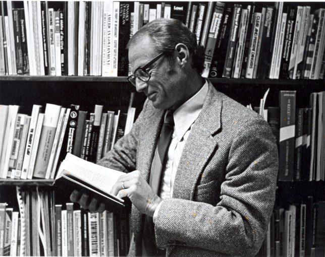 Glenn Brooks in his Palmer Hall office.