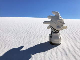 Virgil Ortiz, Watchman Series, 2016, Thunder, photographed on location: White Sands, New Mexico