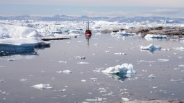 Midnight sail through the greatest known concentration of icebergs in the fjord at Ilulissat, Greenland.