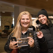 Joshua Birndorf 2/7/2020 As students wander into Worner and Rastall for lunch, they are surprised with the unveiling of Colorado College's new tiger logo. Tons of students receive a free phone wallet sporting the fresh re-design and are informed about upcoming sporting events.