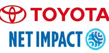 Toyota & Net Impact logos