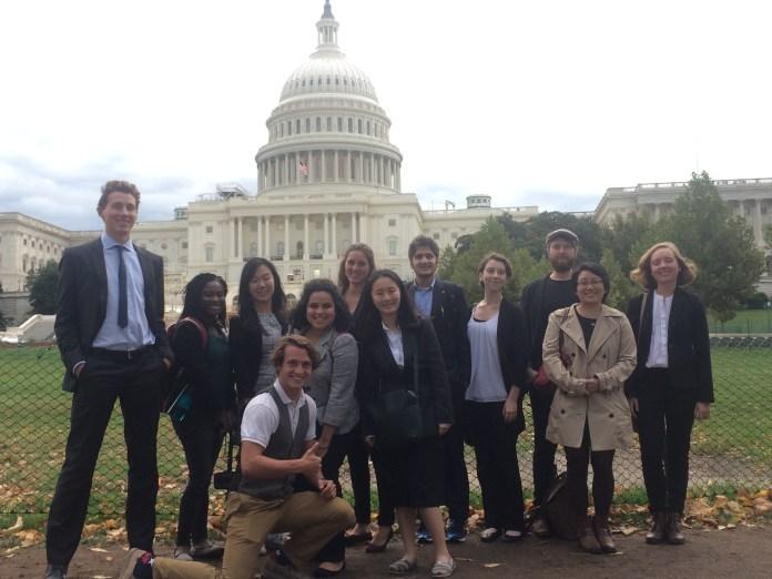 Tiger Trek: D.C. participants in front of the U.S. Capitol building.