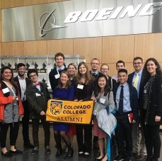 The Tiger Trek group with CC alumni at Boeing HQ