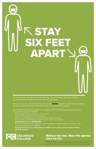 Six Feet Apart Safety Poster