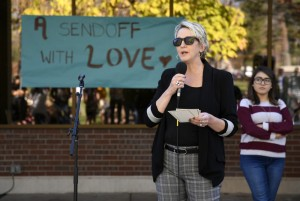 "CC students and faculty congregated at the Worner Quad for CCSGA's ""Loving Send-off: A Celebration of Identity and People at Colorado College"" to discuss the community's inclusivity after this year's divisive election."