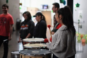 On April 12, the Spanish and Portuguese department with the Luso-Brazilian club held a Brazilian Carnaval in Cornerstone Main Space, where students were able to enjoy an Afro-Brazilian percussion and Samba workshops, as well as eat Brazilian snacks made by the Luso-Brazilian club members.