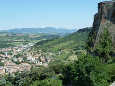 View from the east side of the cliffs of Orvieto.
