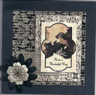 Art Nouveau Handmade Birthday Card